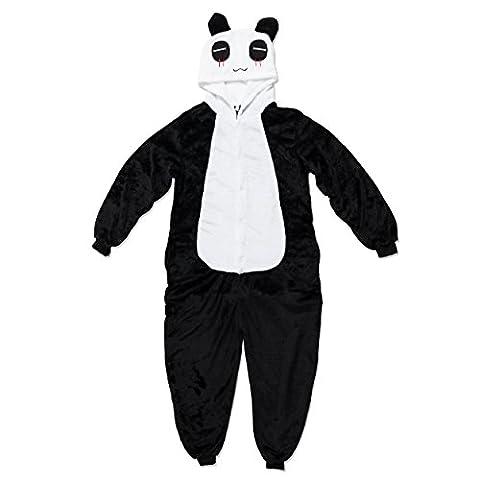 Katara 1744 - Panda Kostüm-Anzug Onesie/Jumpsuit Einteiler Body für Erwachsene