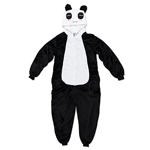 Katara 1744 - Panda Kostüm-Anzug Onesie/Jumpsuit Einteiler Body für Erwachsene Damen Herren als Pyjama oder Schlafanzug Unisex - viele verschiedene (Panda Kostüme Kopf)