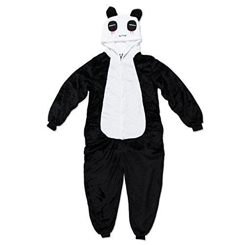 Katara 1744 - Panda Kostüm-Anzug Onesie/Jumpsuit Einteiler Body - Panda Bear Halloween Kostüm