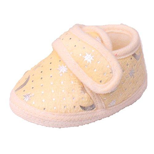 Ohmais Enfants Chaussure Bebe Garcon Fille Premier Pas Chaussure premier pas bébé Sandale Jaune