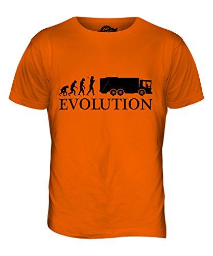 CandyMix Müllwagen Evolution Des Menschen Herren T Shirt Orange