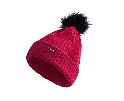 Vulpés Beanie Damen - Deine beheizbare Mütze für warme Ohren (Rubinrot) -