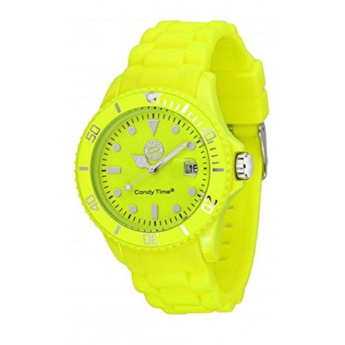 Preisvergleich Produktbild MADISON NEW YORK Unisex Uhr Candy Time® for FC Bayern München Neon Gelb Onesize