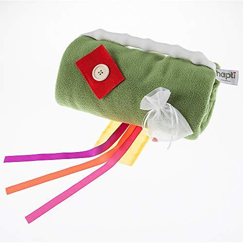 Hapti Muff für Demenz und Alzheimer, Wellness-Fleece, grün, 35 Zentimeter Fleece-muff