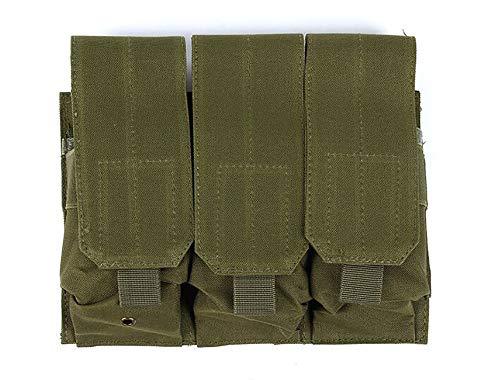 SHUFAGN,Taktische Weste MOLLE Zubehörtasche Camouflage-Clips mit drei Werkzeugen(color:Militärfarbe,size:.) -