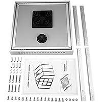 Tabithaolyeo Ventilador Solar, Invernadero ecológico Ventilador termostático Solar con Panel Solar, para ventilación de Escape y enfriamiento de Aire automáticos