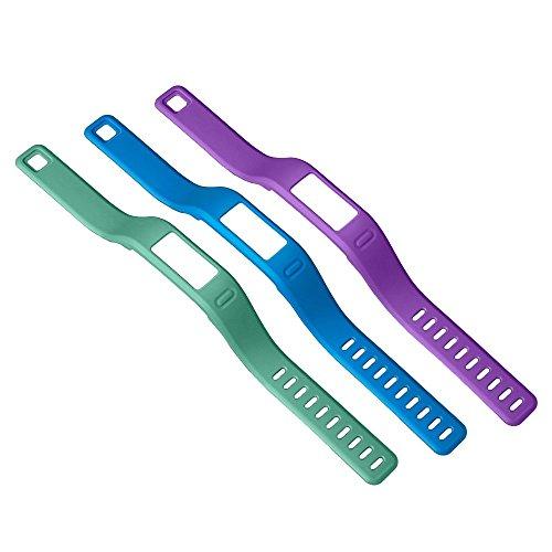 Garmin Vívofit Cinturini di Ricambio, Misura Large, Blu/Verde/Viola