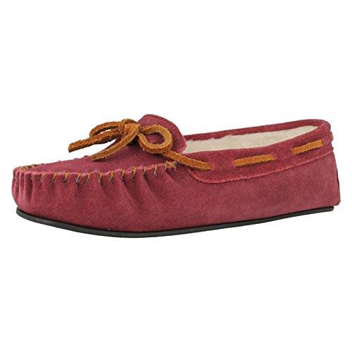 Clarks Pantofole Svegliami Camoscio Bacca UK5 Pelle Scamosciata Bacca
