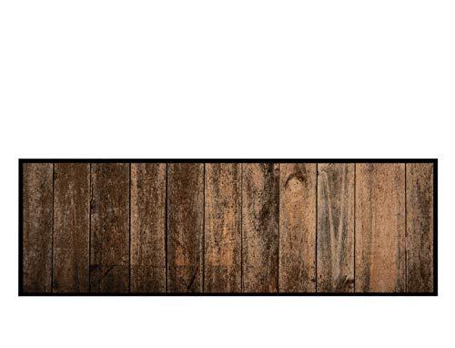 Feuchtalarm - Bavaria Home Style Collection Küchenläufer Küchenteppich Küchen Matte Läufer Teppich Deko waschbar robust modern Größe 150x50 cm 15 Verschiedene Motive und Farben (Holz-Optik) - Läufer Teppich Holz