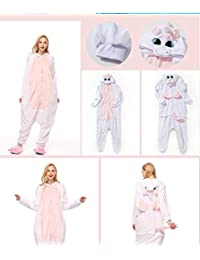 3f20df93bf YHBH Animal de Caricatura de una Pieza Pijama Mujeres otoño e Invierno  Gruesa Franela de Coral