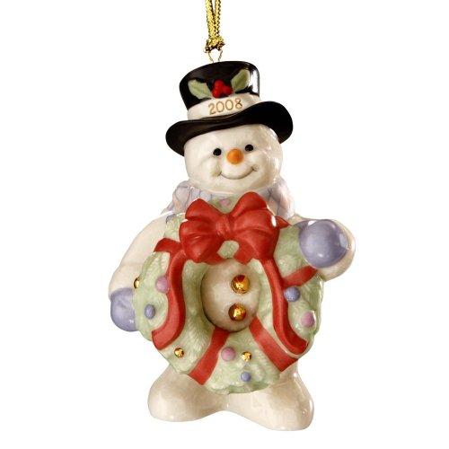 Lenox 2008Dekorieren für Weihnachten-einjährig Schneemann Ornament -