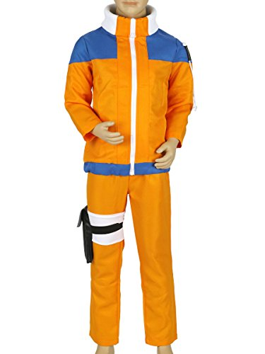 CoolChange Ninja Uzumaki Genin Kinder Cosplay Kostüm; Größe: - Ninja Herr Kinder Kostüm