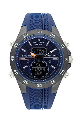 Radiant kibet orologio Uomo Analogico - Digitale al Al quarzo con cinturino in Gomma RA484701