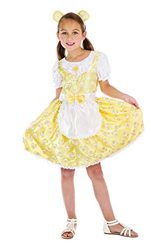 Kinder Kostüm Goldilocks - Bristol Novelty CF168 Goldilocks Kostüm, Mädchen, Yellow, White, 8-10 Jahre