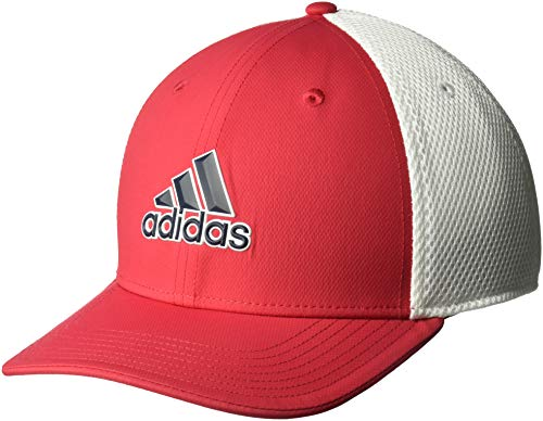 adidas Herren A-Stretch Tour Hat Hut Bold Red/White Small/Medium Red Hats Stretch-hut