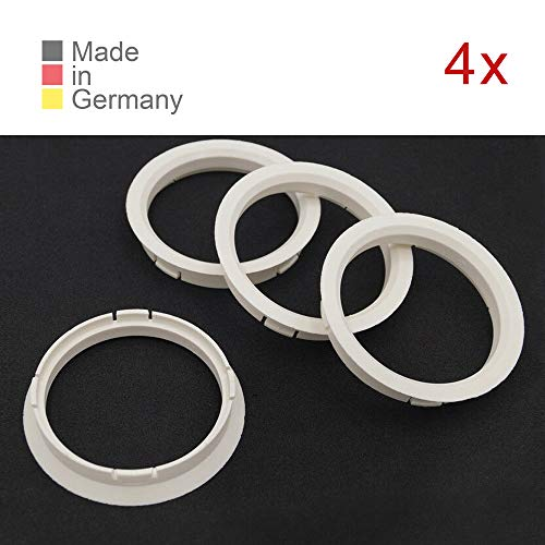 KONIKON 4X Zentrierringe 72,50 x 65,10 mm Weiß Felgen Ringe Radnaben Zentrierring Adapterring Ring Felgenring Distanzring Made in Germany