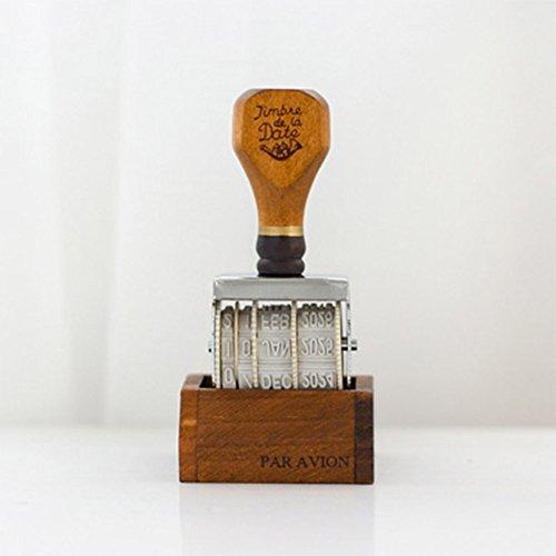 Zantec sigillo guarnizione classico di legno del timbro postale d'imitazione della data per il diario delle cartoline