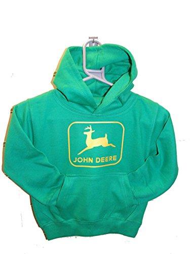 John Deere Hoodie Sweatshirt (John Deere individuell bedruckter Kinder-Hoodie Gr. Small, kelly green)
