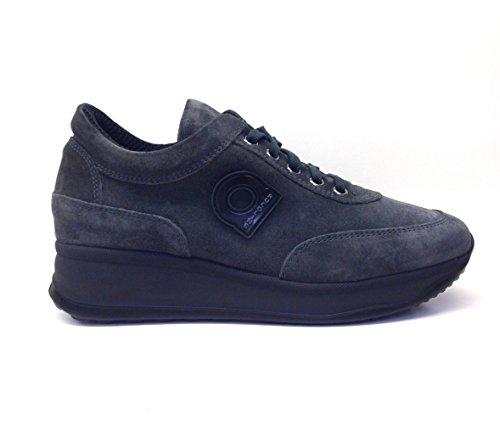 Agile By Rucoline, scarpe donna, 1304 A LEON, sneakers, camoscio,lacci,scarponcino,casual (40, Grafite)