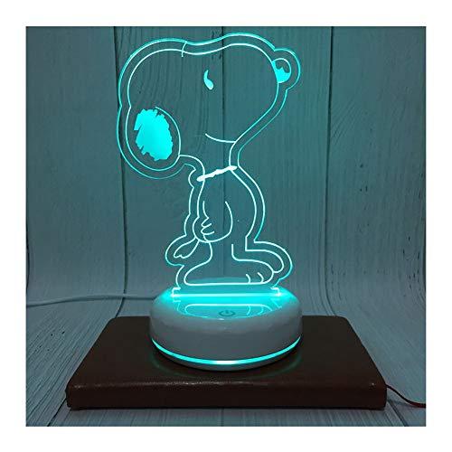 Nachtlicht 3-D Visuelle Kreative Snoopy Nightlight Kinder Geschenk Nachttischlampe Männer Und Frauen Geburtstag Umgebungslampe (Geburtstag Snoopy Dekorationen)