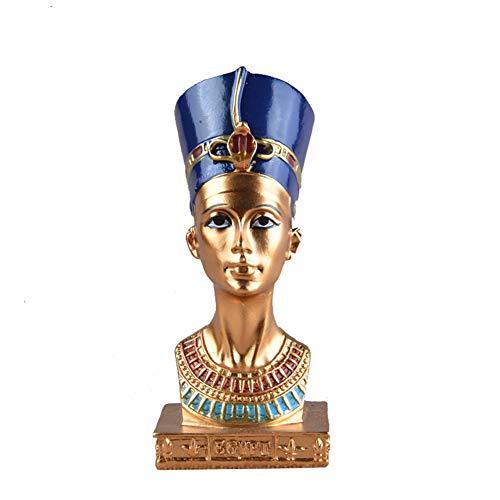 Características: Adorno de escritorio de escultura del antiguo faraón egipcio. Pintado a mano, mano de obra exquisita. Es una bonita decoración para la decoración del escritorio de la oficina en casa. Un gran regalo para cumpleaños, festival, etc. Es...