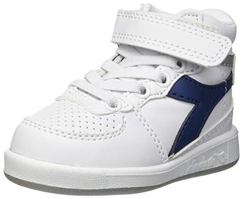 Diadora playground h td, scarpe da ginnastica unisex - bambini (blu estate 60024), 26 eu
