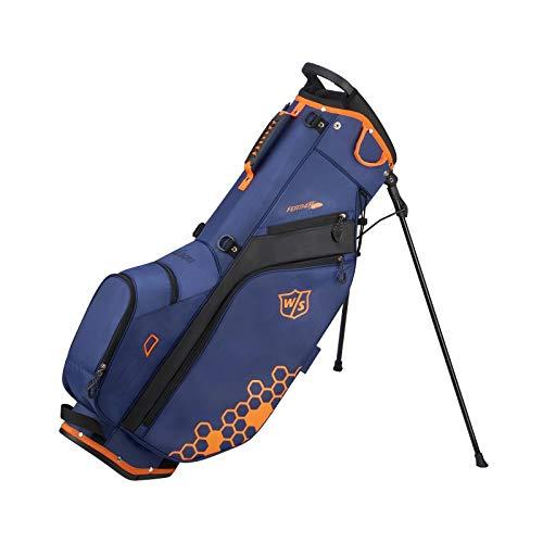 WILSON Staff Federtasche, Herren, Feather Carry Bag, blau/orange (Blau Und Orange Golf-bag)