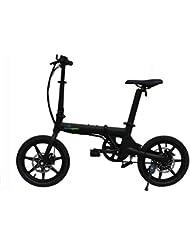 Eléctricas Bicicleta 16 Pulgadas Plegable Bicicleta Aleación De Aluminio Bicicleta para Adultos Bicicleta De Batería De