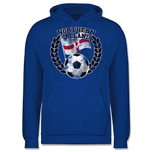EM 2016 - Frankreich - Northern Ireland Flagge & Fußball Vintage - Männer  Premium Kapuzenpullover /