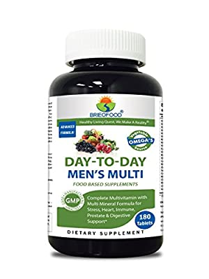 Briofood Food Based Multivitamin with Vegetable Source Omega Day-to-day Men's Multi Tablets, 180 Count from Best Nutritionals LLC