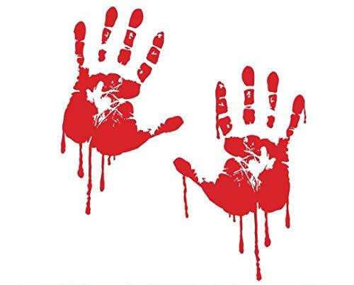 decalstore 2 blutige Hände Aufkleber Sticker Auto Folie