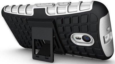 GVC Tough Hybrid Armor Back Cover Case with Kickstand for Motorola Moto G3 (3rd Gen) White