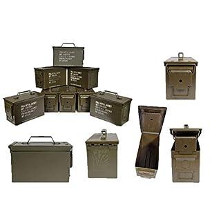 Armeeware 8 Stück Munitionskiste Cal. 5,56 x 45 Oliv neuwertig 30 x 14 x 19 Werkzeugkiste Munikiste