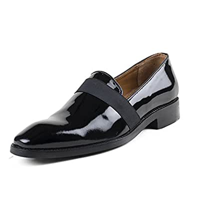 Cordonnier Black Patent Leather Slip On loafers-Size 11 Men's Leather Shoes