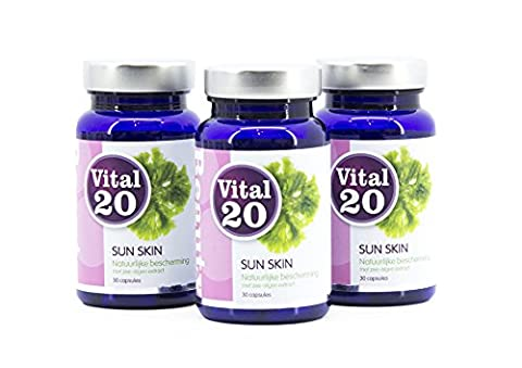 Vital20 SUN SKIN Value Pack - Natural skin protection with sea-algae extract (90 capsules) (90 Value Pack)