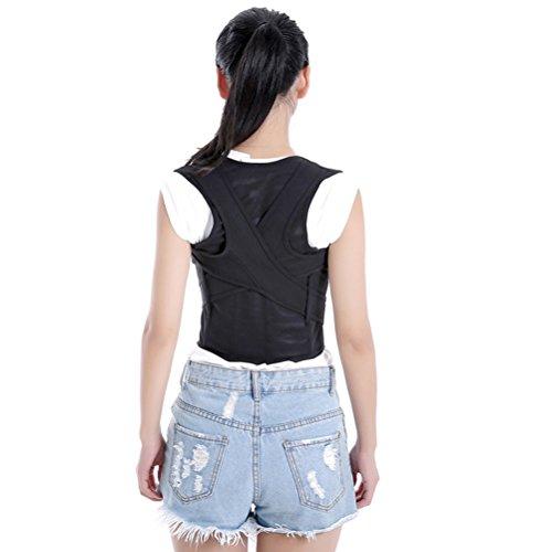 ROSENICE Corrector de Postura Espalda Faja para Espalda Lumbar Soporte de Espalda Ajustable Negro Talla XL