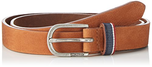 Tommy Hilfiger Corporate Loop Belt 2.5, Ceinture Femme Marron (Tan)