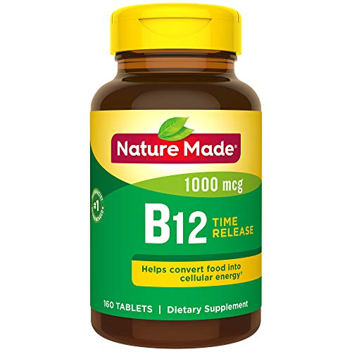 Nature Made Vitamin B-12 Timed Release Tablets, Value Size, 1000 Mcg, 160 Count (Vitamin Made Nature B12)