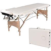 wellhome mesa de masaje plegable 2 zonas en madera – Cosmetique de masaje portátil, ...