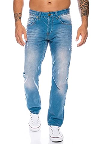 Rock Creek Herren Jeans Hellblau LL-321 [W38