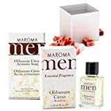 Maroma Men Aromatic All Natural Face and Body Deluxe Gift Set Olibanum Citrus