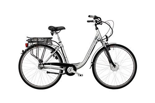 HAWK Bikes Green City Plus Wave E-Bike - Damen City Pedelec mit Aluminiumrahmen und Nabenschaltung (26 Zoll, Rahmengröße 44 cm)