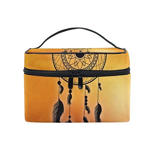 Neceser portátil Sunset atrapasueños, bolsa de maquillaje, organizador de maquillaje, bolsa de aseo con gran capacidad para cosméticos y herramientas de maquillaje