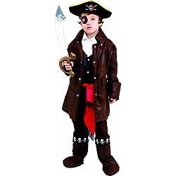Dress Up America 708-T2 - Costume per travestimento da Pirata Dei Caraibi, Bambino, 1-2 anni