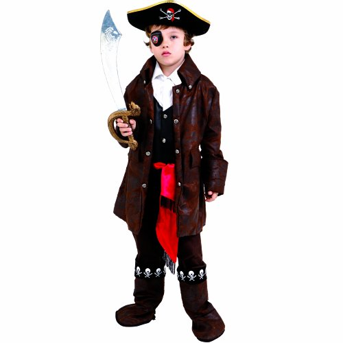 Dress up america 708-t2 - costume per travestimento da pirata dei caraibi, bambino, 1-2 anni