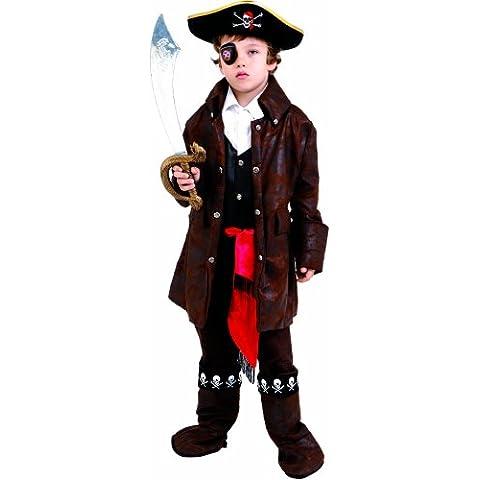 Dress Up America - Pirata del Caribe disfraz para niños, talla S, 4-6 años (708-S)