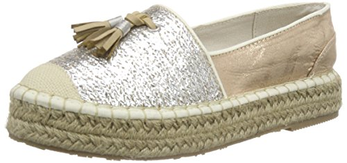 Mustang1224-204 - Espadrillas Donna , Argento (Silber (205 silber / rose)), 40