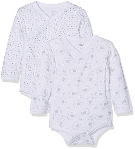 Care Unisex Baby Body 4135, 2er Pack, Gr. Frühchen (Herstellergröße: 44), Mehrfarbig (Light Grey 142)