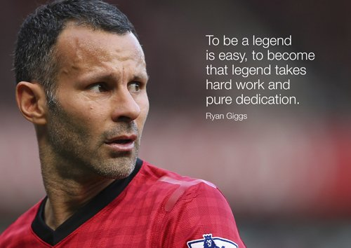 Motivational-Ryan Giggs 2-A4-MAN unt.-Fußball Legende-Motivational-Inspirierende-Print-Bild -