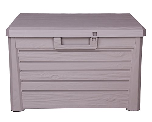 Toomax Kissenbox #Z158 grau 120 Liter Inhalt Holz Optik - mit Sitzfläche 200 kg Tragkraft - absolut...